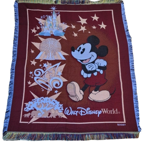 Walt Disney Mickey Mouse Tapestry Woven Throw